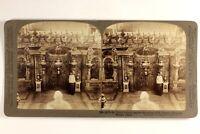 Italia Roma Vaticano Saint-Pierre Tombeau c1900 Foto Stereo Vintage Albumina