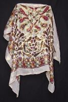 All Shimmering Magenta Red Yellow Mellow Green & Blue Paisley Print Scarf (S176)