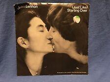 """JOHN LENNON & YOKO ONO Vinyl Single """"Starting Over"""" Album LP Record Music 1980"""