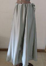 Indian Saree Petticoat Underskirt Satin Silk Silver Lining belly dancing slip