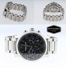 Montblanc Timewalker 7069 Chronograph Automatic Men's Steel Watch Black Dial
