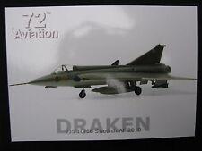Post Card Aviation 72 Saab Draken J35 10/56 Swedish Air Force 2010