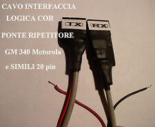 CAVO INTERFACCIA COR PER PONTE RIPETITORE GM 340 MOTOROLA e simili 20  PIN
