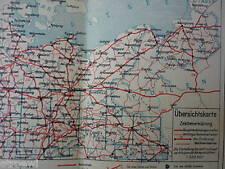 altes Kartenwerk / Landkarte von Mitteldeutschland - Landkarte -  SH529-0619