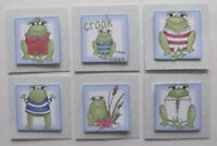 PK 6 PRETTY FROGGIE EMBELLISHMENT TOPPERS FOR CARDS