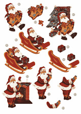 Craft UK A4 Die Cut Decoupage Sheet - Line 428 - Father Christmas / Santa