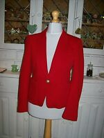 Lady's Summer Cotton Smart Jacket by 'ZARA WOMAN'-Red ,Size Medium