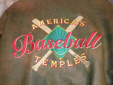Baseball Americas Temples Brad Bennett Leather Jacket Size Large Pre Owned