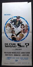 LOCANDINA CINEMA - DI CHE SEGNO SEI -P. VILLAGIO, A. CELENTANO, R. POZZETTO-1975