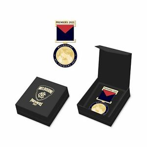 2021 Melbourne Demons Premiers Boxed Medal with Ribbon *PRE ORDER*
