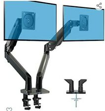 """HUANUO Dual Monitor Stand  Double Gas Spring Arm Monitor Desk Mount for 2 35"""""""