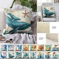 45*45cm Sofa Throw Cushion Cover Sea Turtle Printed Pillow Case Home Decor 8SJ