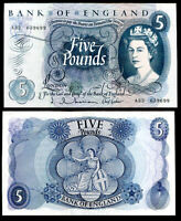GREAT BRITAIN 5 POUNDS ENGLAND ND 1963 - 1966 P 375 a HOLLOM UNC