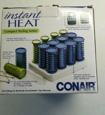 Conair Compact Ceramic 12 Hot Rollers Curlers Soft TravelCase