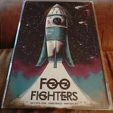 Foo Fighters Poster Style Wall Sign Metal New 00006000