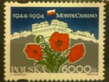 POLAND STAMPS MNH 1Fi3340 Sc3196 Mi3488 - Monte Cassino, 1994, **