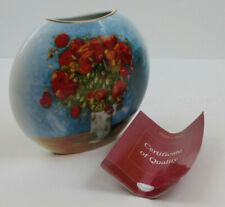 """Goebel Artis Orbis V. Van Gogh Coquelicots Vase 6 1/4"""" Tall w/ Certificate"""