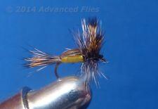 1 dozen Yellow Humpy Dry Fly #16 Fly Trout Fishing Flies Nib