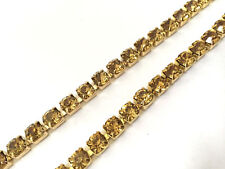 Diamante Crystal 1 Metre Gold Base Link Chain for Various Art & Crafts Clothing