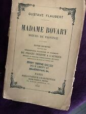 Madame Bovary 1910 edition by Gustave Flaubert antique French paperback, freeshp