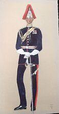 Captain Royal Horse Guards Full Dress 1950, Gouache TCI  Unbekannt