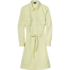 PENDLETON Stitched BUTTON Down COTTON Shirt DRESS with BELT Women size 10 MEDIUM