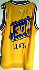 ADIDAS GOLDEN STATE WARRIORS STEPH CURRY GOLD THROWBACK SWINGMAN JERSEY size M