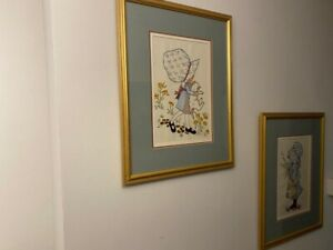 Pair Of Framed Embrioded Art