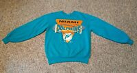 Vintage Team Rated Miami Dolphins Youth Size Large 14-16 Crewneck Sweatshirt