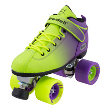 Riedell Dart Ombre roller skate quad unisex size 6 purple fits women's 7