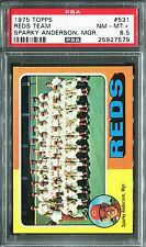 1975 Topps #531 Reds Team Sparky Anderson Mgr. PSA 8.5 NM-MT+