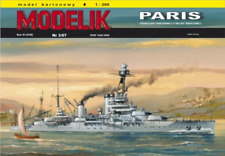 French battleship Paris 1:200 paper card model kit 84cm long