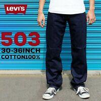 LEVI'S 503 JEANS MEN'S LOOSE STRAIGHT LEG W33 L33 DARK BLUE