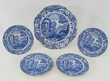 Copeland Spode's Italian Blue & White Pattern 1 Divided Plate & 4 Side Plates