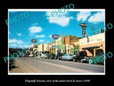 OLD 8x6 HISTORIC PHOTO OF FLAGSTAFF ARIZONA THE MAIN STREET & STORES c1950