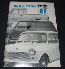 Betriebsanleitung Handbuch Mini Cooper 850 / 1000 Bedienungsanleitung April 1971