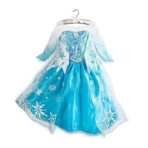 NEW Girls Dress Costume Princess Elsa Cosplay Birthday Party size 2 -10 years