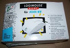 Atari 520 1040 ST STE Logitech Logimouse Pilot Mouse BOXED with Pipe Mania Disk