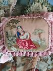 Stunning antique needlepoint tapestry 1860c cushion / pillow