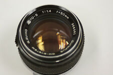 Olympus Zuiko 50mm f1.4 manual focus lens