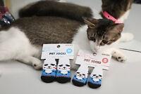 Nice Pet Dog Cat Socks Cotton Anti Slip Knitted Winter Warm Skid Shoes 4Pcs/Set