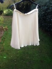 ladies cream Cerruti 1881 pleated skirt size 12