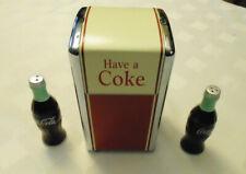 Vintage Coca Cola Napkin Holder Dispenser Salt + Pepper shakers Diner Style  LOT