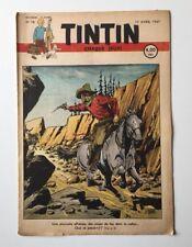 JOURNAL TINTIN 16 Belge 1947 2ème Année Couverture LE RALLIC - BD REVUE ANCIEN