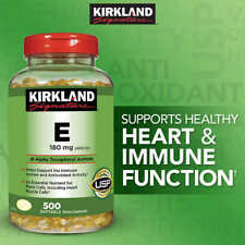 Kirkland Signature Vitamin E 400 IU, 500 Softgels, bottle, Exp 2020 or better