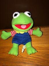 "Vintage Muppet Babies Kermit 8"" Beanie Plush Jim Henson Stuffed Animal"