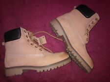 BRONX Womens Classic Ankle Tan Coloured Workboots Size 8.5 AU/39 EU BNWOT!