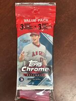 2018 Topps Chrome Value Hanger Pack Pink Refractors Acuna, Albies, Devers RCs