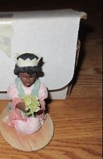 "Enesco Laura'S Attic ""I Picked These For You"" Figurine With Box ""1991""*"
