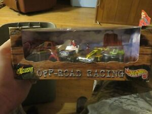 #19321 Hot Wheels 1997 OFF ROAD RACING 4 pc. set,Truck, Jeep, Race Car ,ATV,1/64